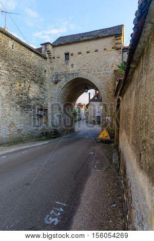 The North Gate In The Medieval Village Noyers-sur-serein
