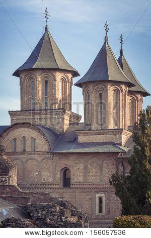 Romanian orthodox church. Orthodox church in Targoviste, Rromania