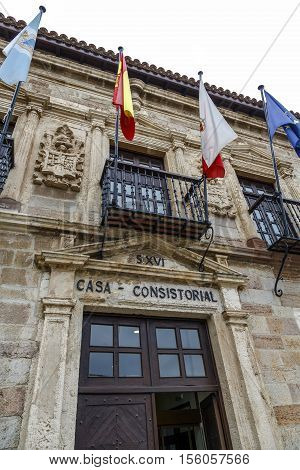 City council of San Vicente de la Barquera Spain XVI century building