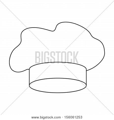 Chef's Hat icon in outline style isolated on white background. Hats symbol vector illustration.