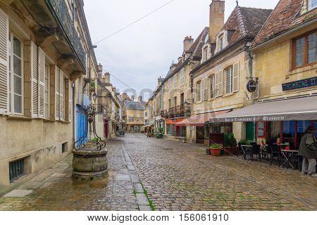 Street In The Medieval Core Of Semur-en-auxois