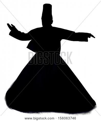 Sufi Whirling Silhouette    poster
