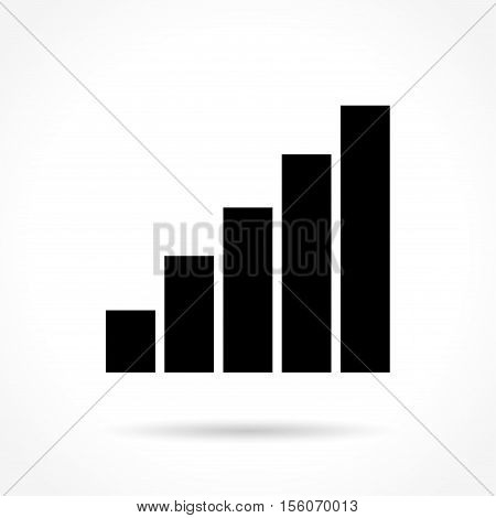 Illustration of signal icon on white background