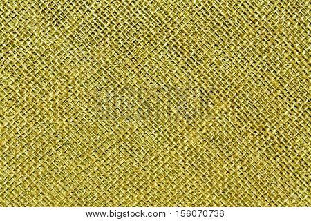 Yellow Hessian Sack Cloth Texture.