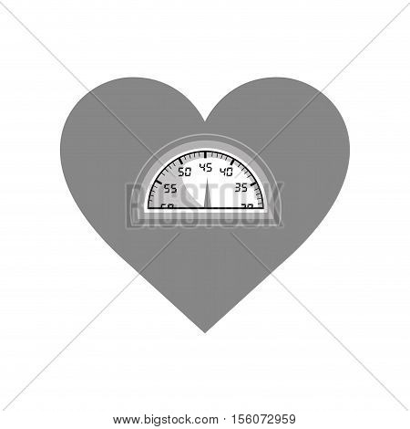 weight scale and heart cartoon  icon image vector illustration design