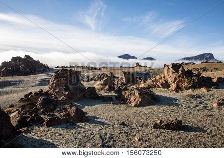 Lunar landscape in the Las Minas de San Jose (Tenerife - Spain)