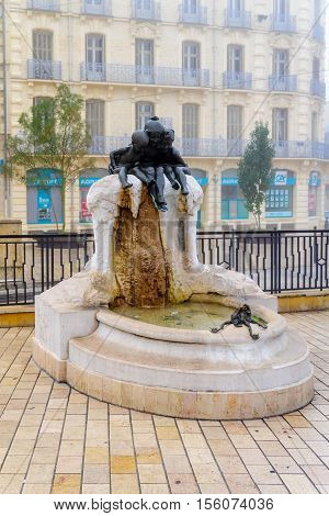 The Youth Fountain In The Darcy Square, In Dijon