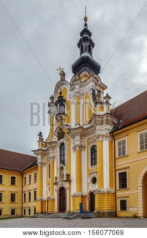 Rein Abbey is a Cistercian monastery in Styria in Austria. It is the oldest surviving Cistercian community in the world. Abbey church