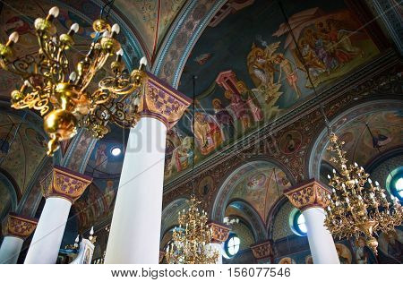 Kos, Greece - May 14, 2010 : The inside of the Agia Paraskevis church