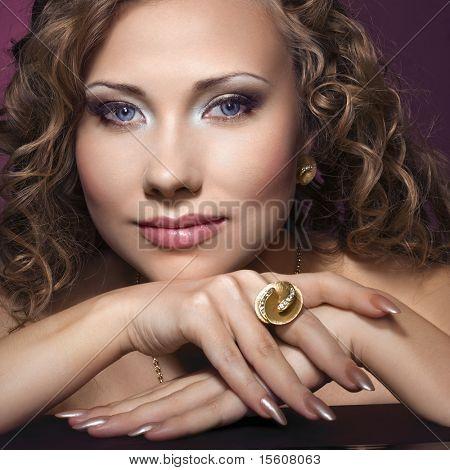 Beauty with stylish jewelry