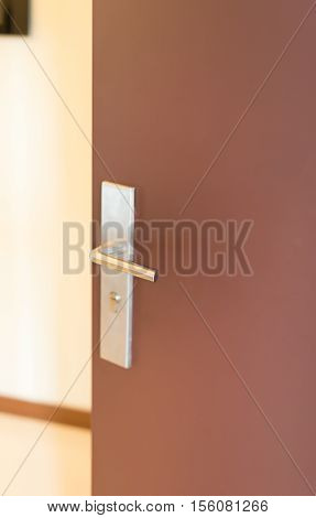 a door with lock to a house