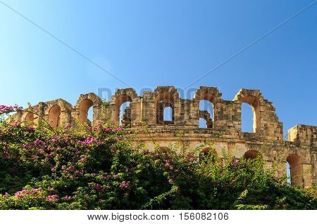 El Jem Amphitheater In Tunisia