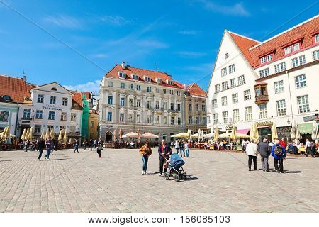 Town Hall Square In Old Tallinn City