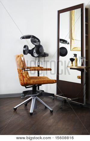 Interior of modern beauty salon