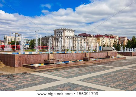 Fountains In Kazan Centre