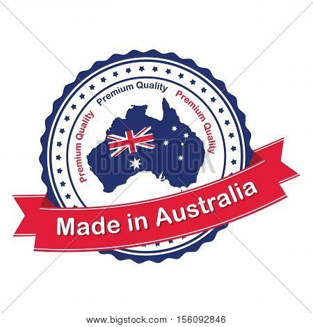 Made in Australia, Premium Quality - label for retail, business industry