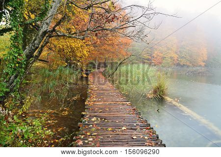 Plitvice Lakes Autumn, Croatia