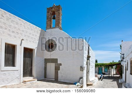 Greece Dodecanese, Patmos, view of  the Chora village