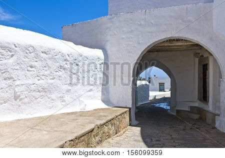 Greece Dodecanese,Patmos view of the Chora village