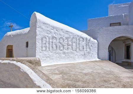 Greece Dodecanese, Patmos, a church of  the Chora village