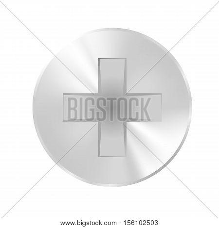 Vector illustration. Cap screws flat glossy surface.