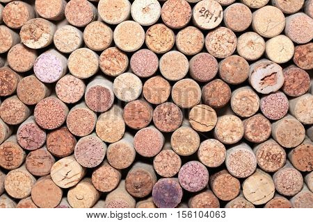wine corks background / collection of used wine corks