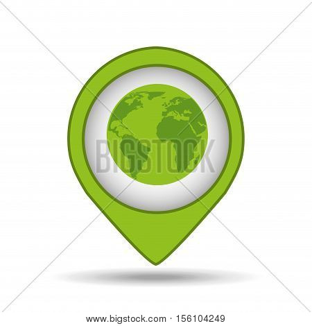 globe earth pin map ecology vector illustration eps 10