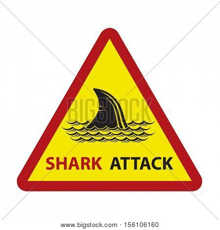 warning sign of attack of sharks