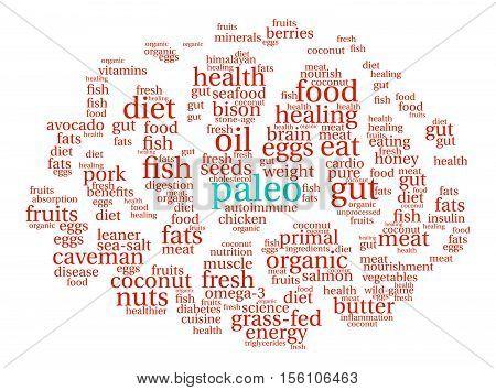 Paleo Brain Word Cloud