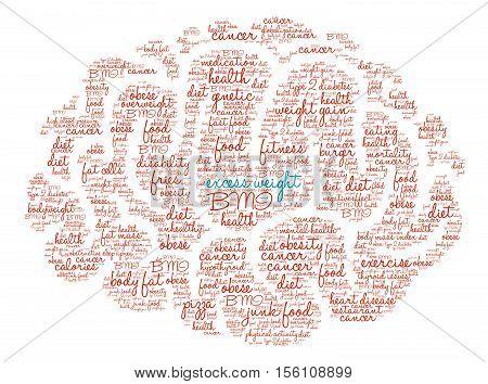 Excess Weight Brain Word Cloud