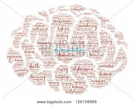 Disorientation Brain Word Cloud