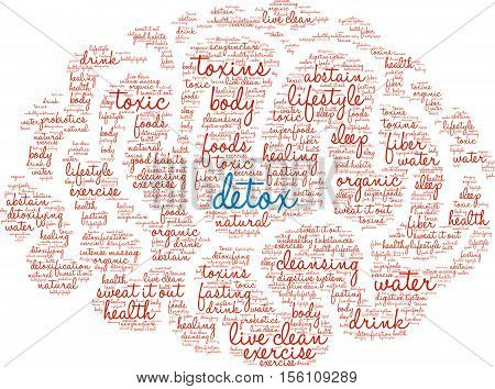Detox Brain word cloud on a white background.