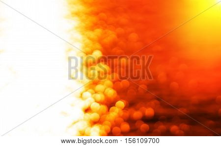 Left aligned glowing sun path ocean sunset with light leak background hd