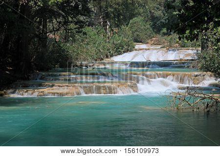 The Agua Azul waterfalls in Chiapas, Mexico
