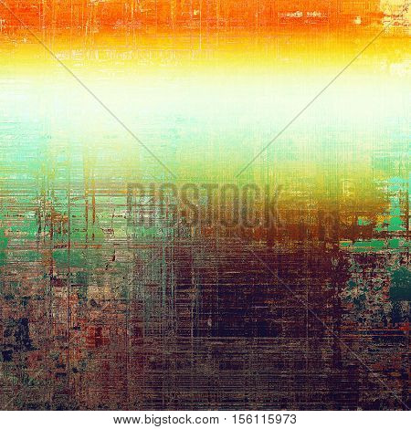Grunge background or texture with vintage frame design and different color patterns: yellow (beige); green; blue; red (orange); purple (violet); white