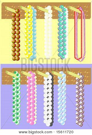 Simple glass beads.