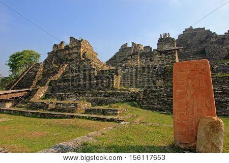 Ruins of the ancient Mayan city of Tonina, Mexico