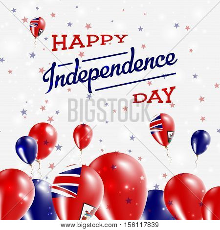 Bermuda Independence Day Patriotic Design. Balloons In National Colors Of The Country. Happy Indepen