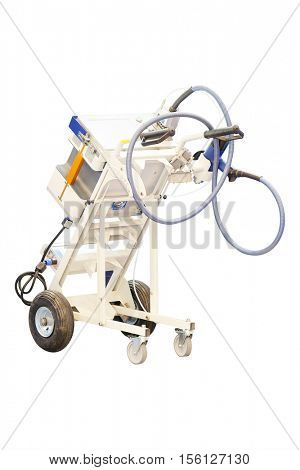 The image of a mobile metal work device