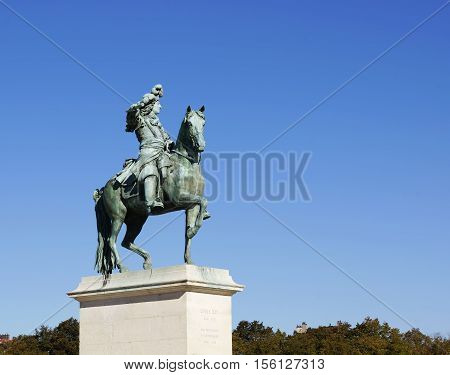 Statue of Louis XIV at Versailles France