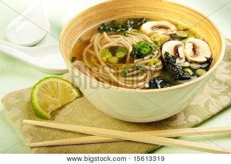 Soba Noodle And Kale Soup