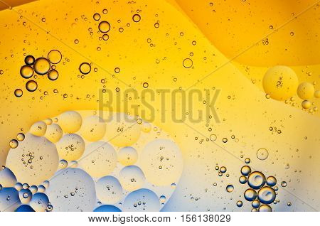 Oil Drops On Water