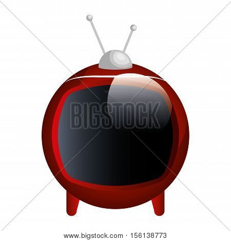 tv old device isolated icon vector illustration design