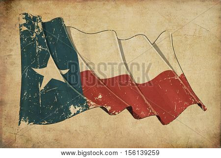 Texan Grunge Flag Textured Background Wallpaper