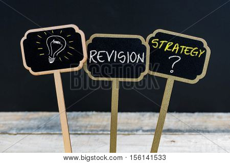 Concept Message Revision Strategy ? And Light Bulb As Symbol For Idea