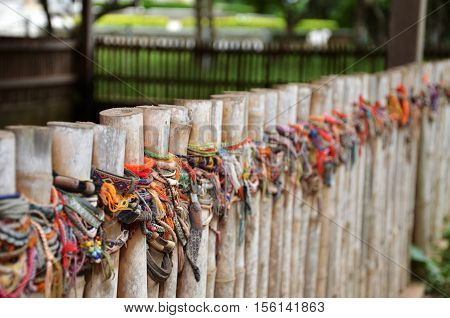 Colored Bracelets Of The Killing Fields Of Choeung Ek In Phnom Penh,