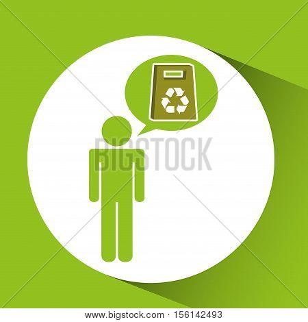 symbol recycle paperboard bag design vector illustration eps 10