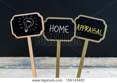 Concept Message Home Appraisal And Light Bulb As Symbol For Idea