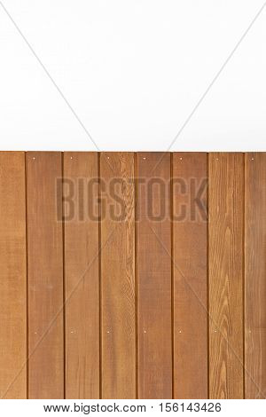 Cedar wooden boards on an interior wall background