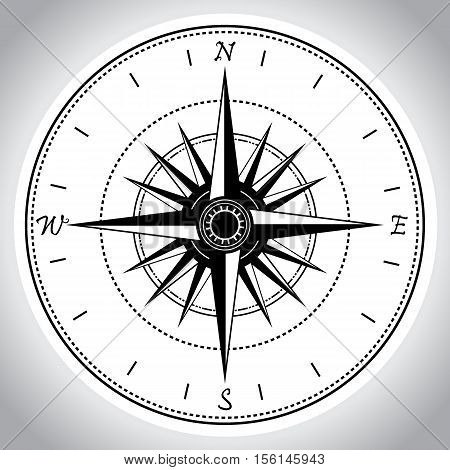 Compass device design. Device for orienteering . Vector illustration